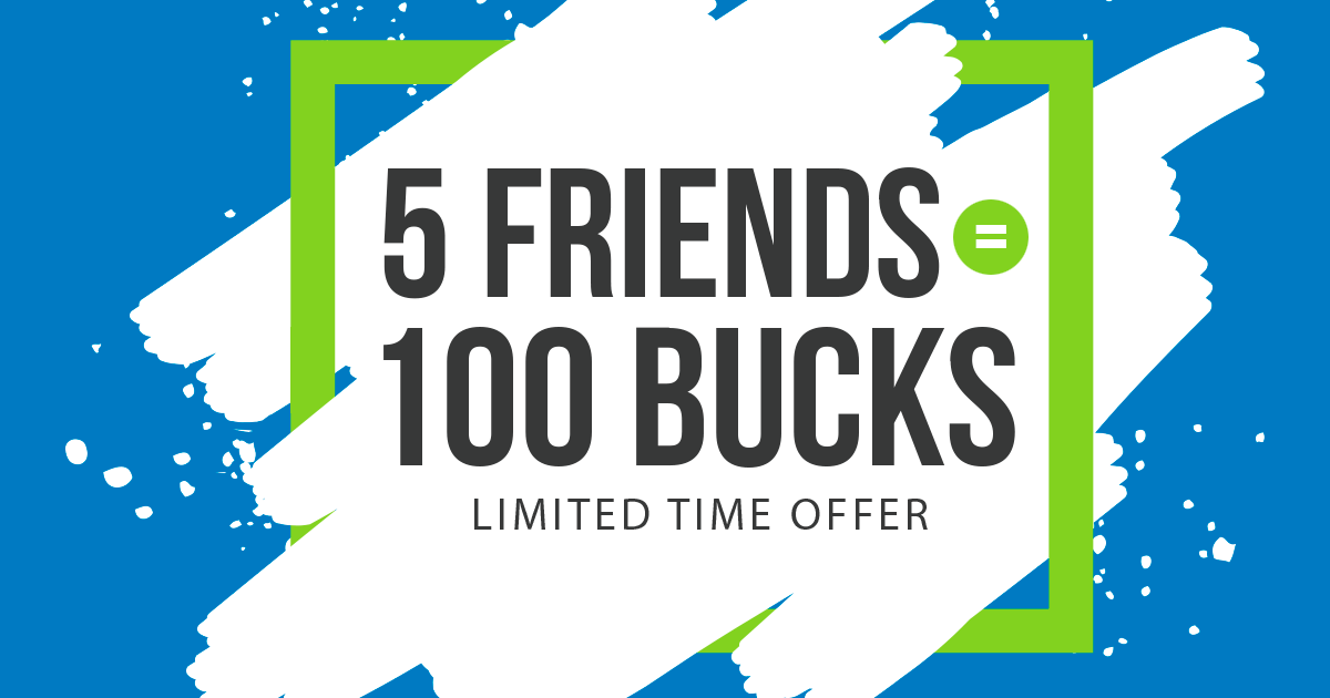 Invite 5 Friends to Earn $100 - Best Cash Back Deal