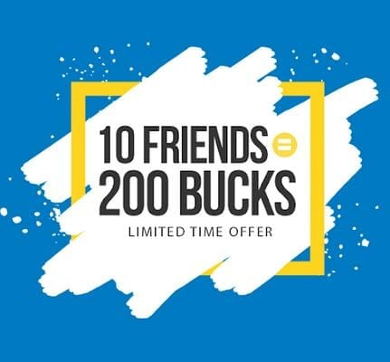 Earn $200 When You Invite Friends to Earn Cash back!