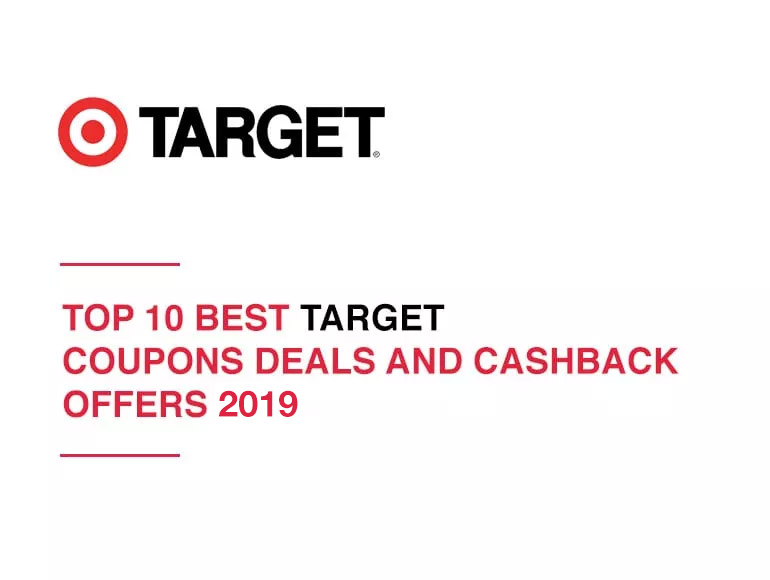 Top 10 Best Target Coupons, Deals and Cashback Offers 2019