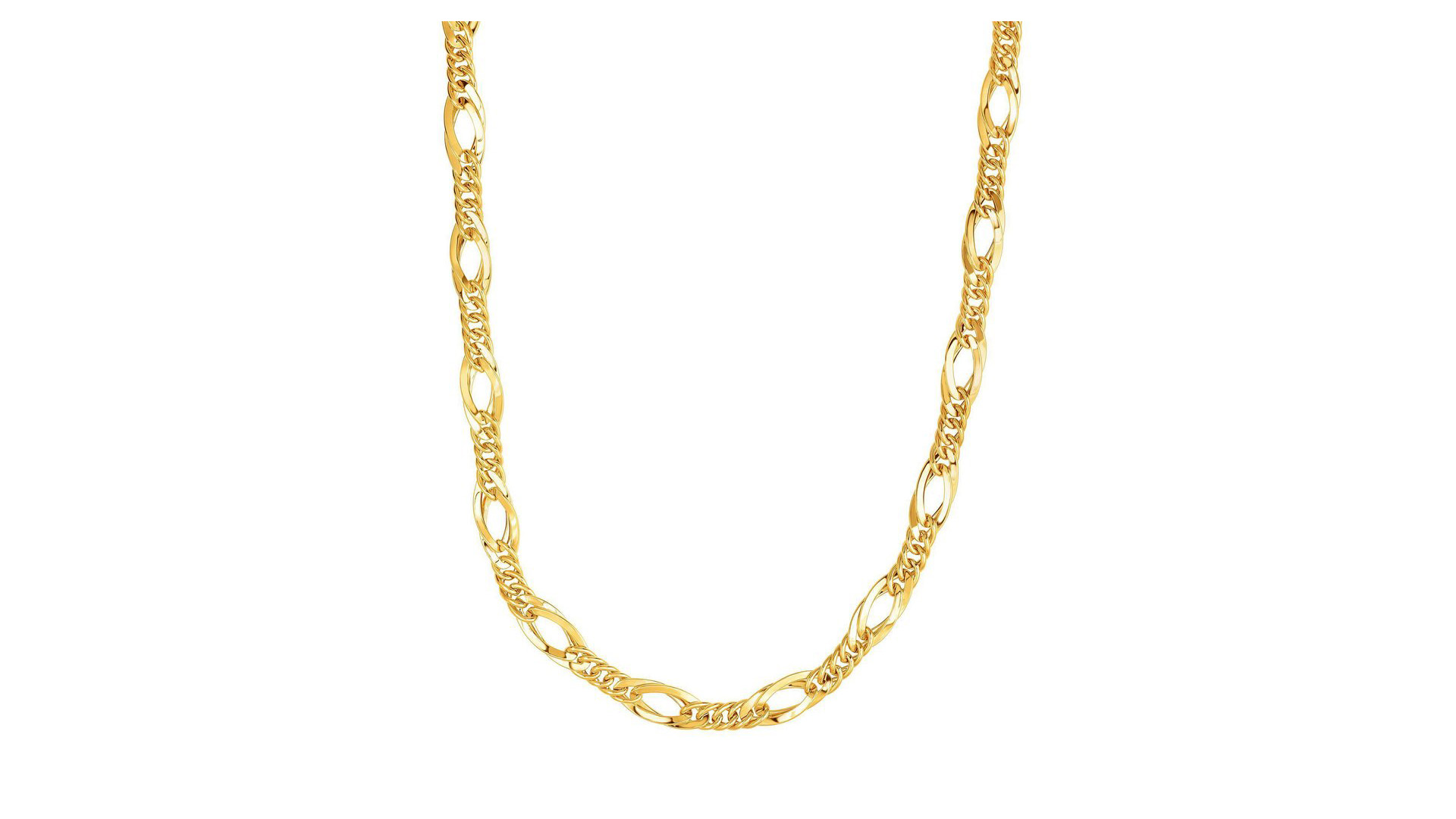 Beautiful Jewelry On Mother's Day Sale - 14k Yellow Gold Oval Link Chain Women's Necklace 18