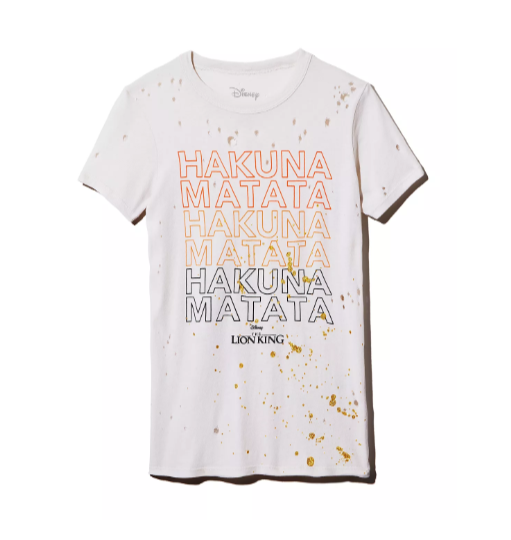 Incredible Lion King Editorial at Bloomingdale's CHASER x Disney Hakuna Matata Distressed Tee