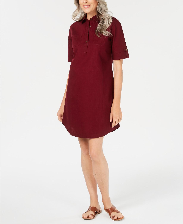 KarenScott Cotton Shirtdress