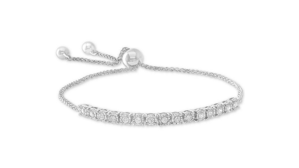Macy's Jewelry Sale - Macy's Wrapped™ Diamond Bolo Bracelet