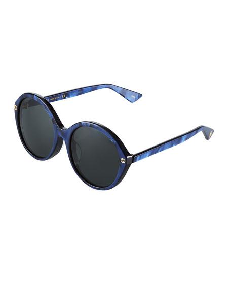 Neiman Last Call Oversized Round Acetate Sunglasses