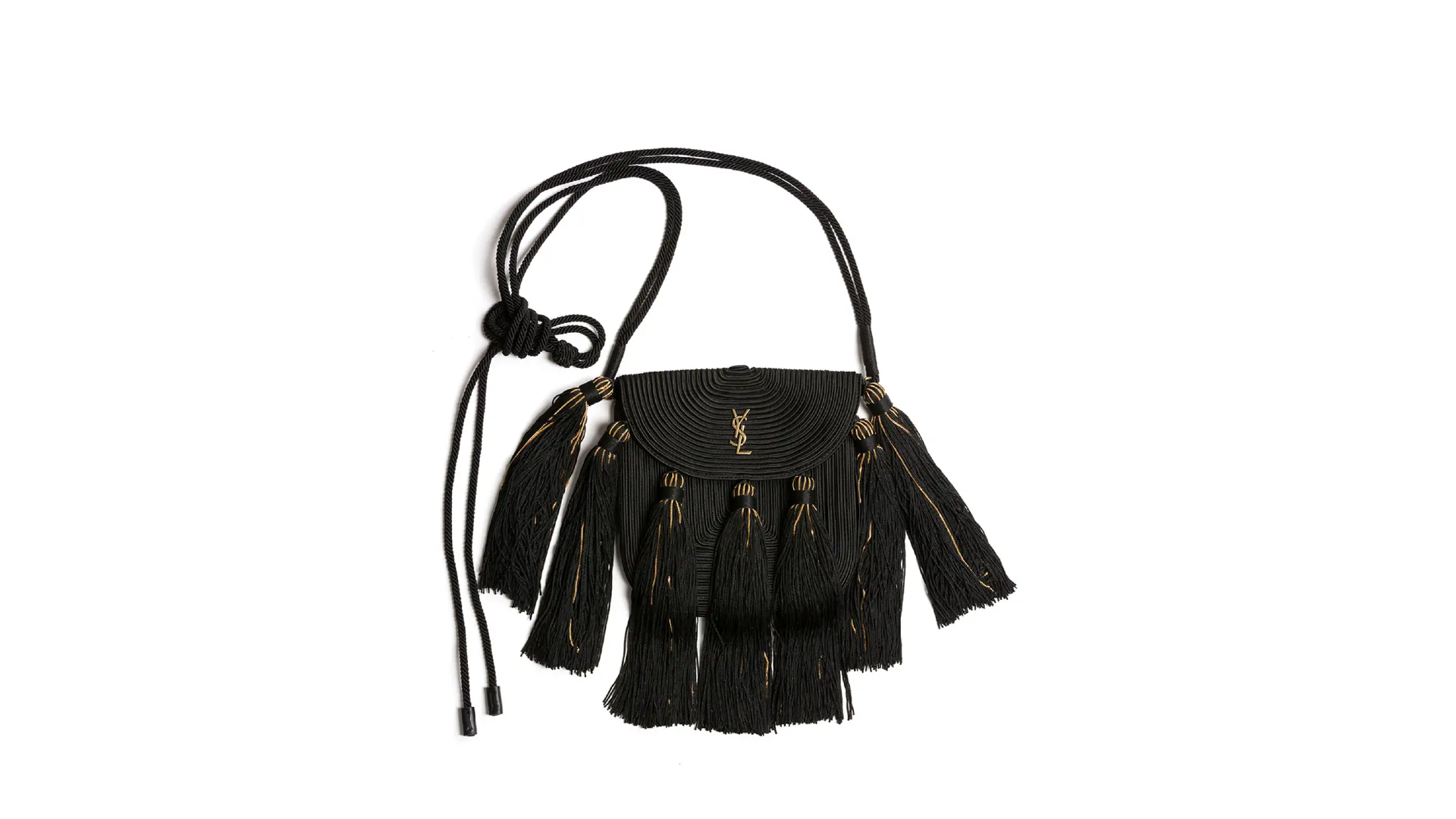 Saint Laurent Vintage Passementerie Small Monogram Shoulder Bag