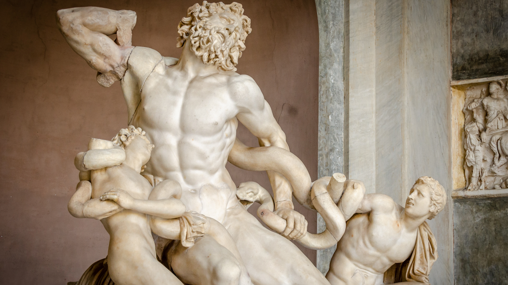 Laocoon and His Sons shows the Ancient Greek's standard for the male body