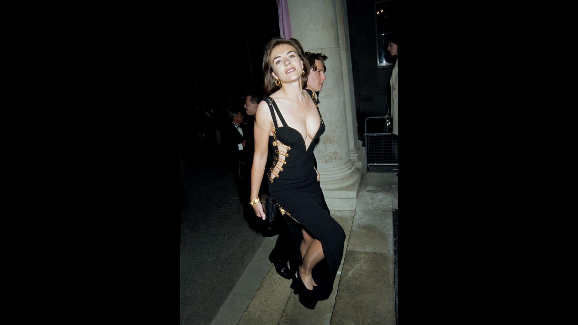 Elizabeth Hurley With Versace