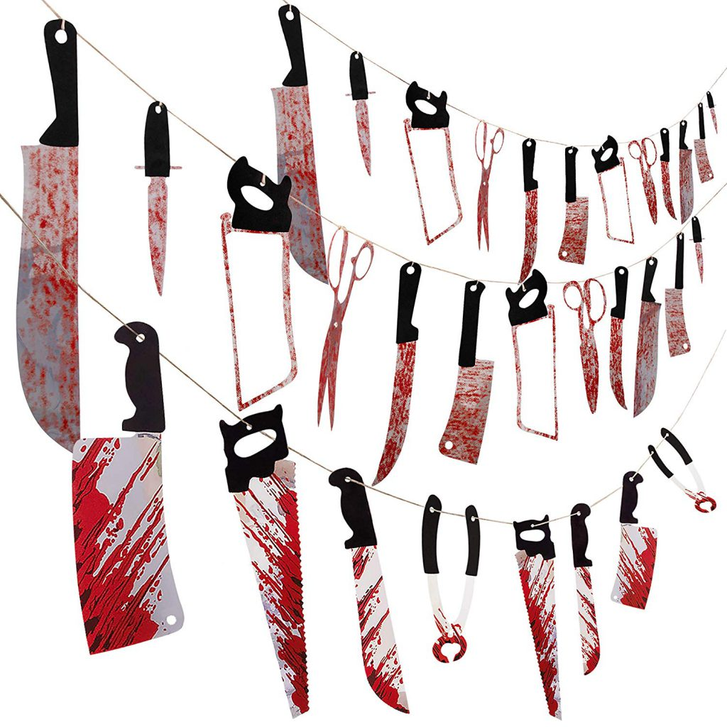 amazon halloween items bloody knives set