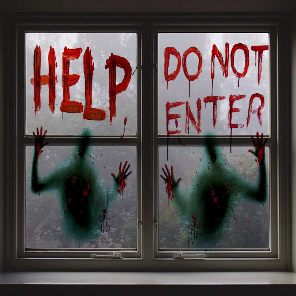 amazon halloween items scary window posters