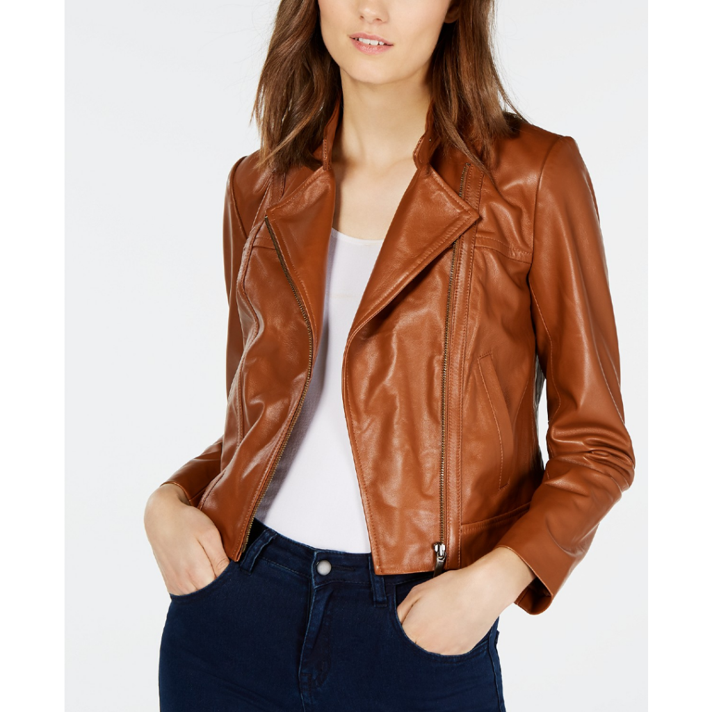 macy's fall coupons Michael Kors Leather Moto Jacket