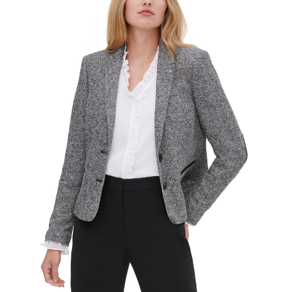 macy's fall coupons Tommy Hilfiger Marled Peak-Lapel Blazer