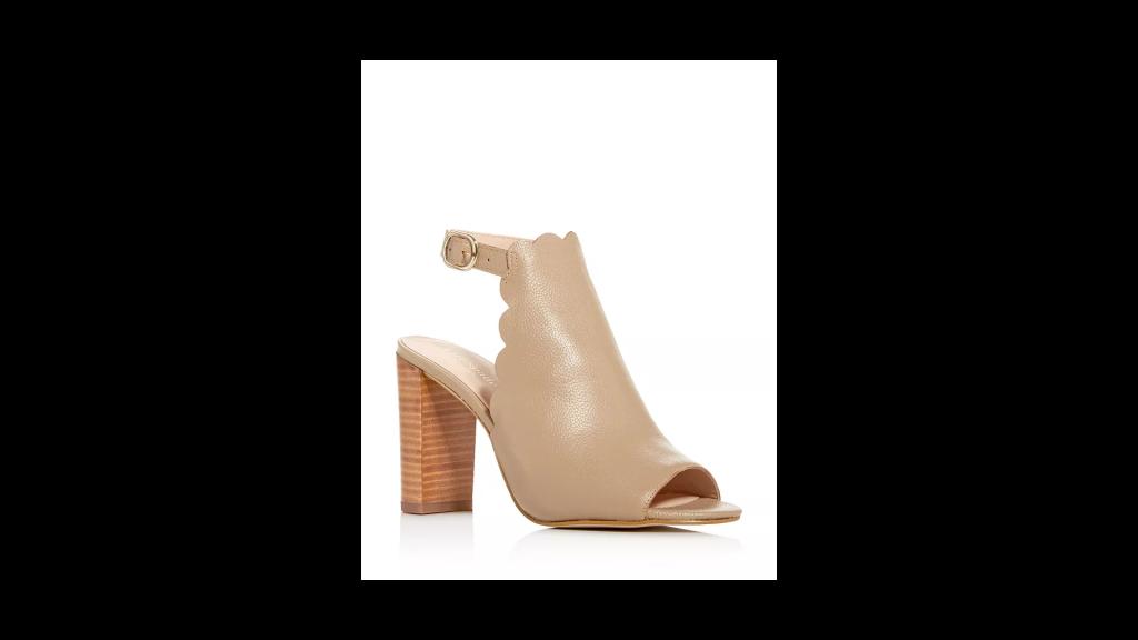 KATE SPADE new york Women's Olivia Scalloped Block-Heel Sandals