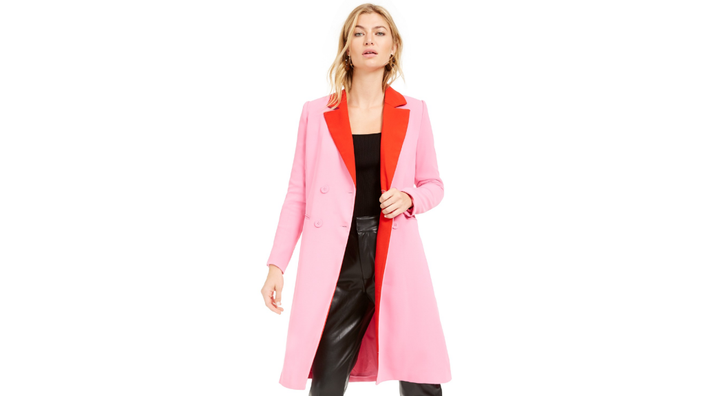 Macy's Sale: Bar III Becca Tilley x Double Breasted Duster Jacket