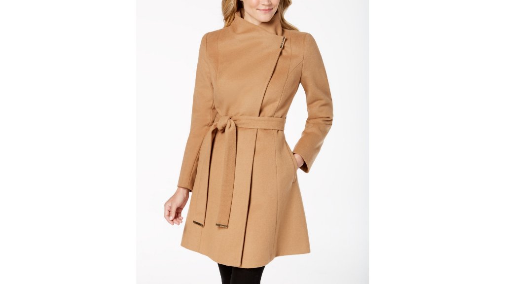 Macy's Sale: Michael Kors Asymmetrical Belted Coat