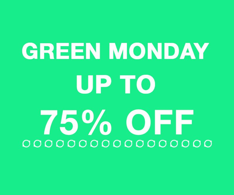 Green Monday Deals With UP TO 75 OFF + Cash Back To Save BIG