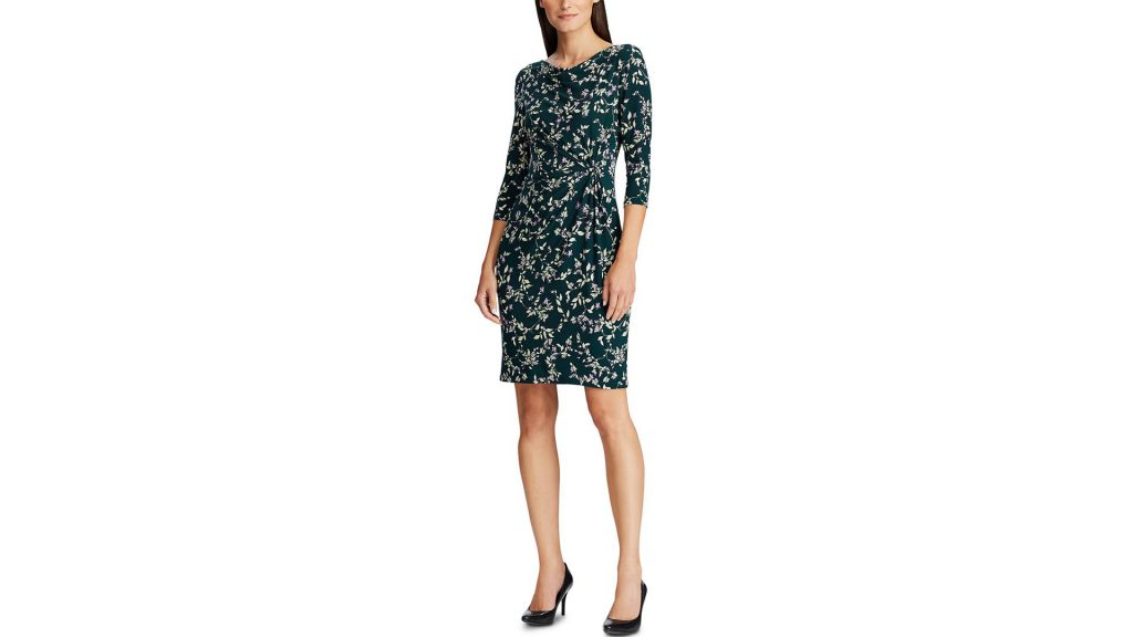 Macy's Clearance Sale With UP TO 70% OFF + Cash Back - Buy This Lauren Ralph Lauren Twisted Knot Jersey Dress And Get Macy's Cash Back