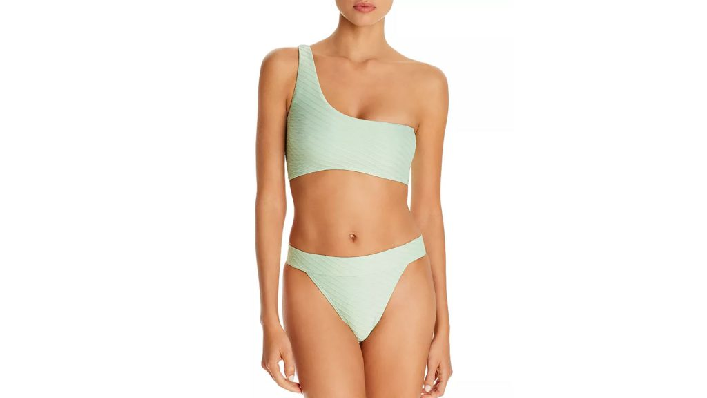 Bloomingdale's Spring Trends Coupon - Get UP TO 15% Bloomingdale's Cash Back by buying Charlie Holiday Tide One-Shoulder Bikini Top & Bamba Bikini Bottom