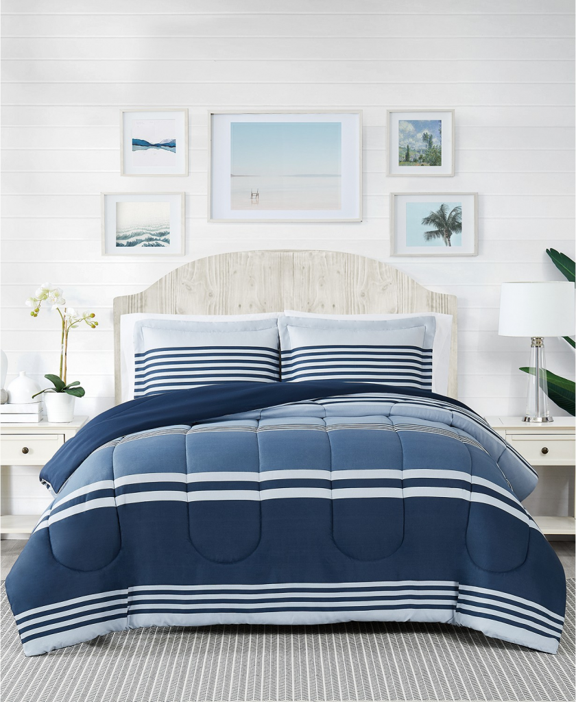 macys home day sale cole stripe comforter set