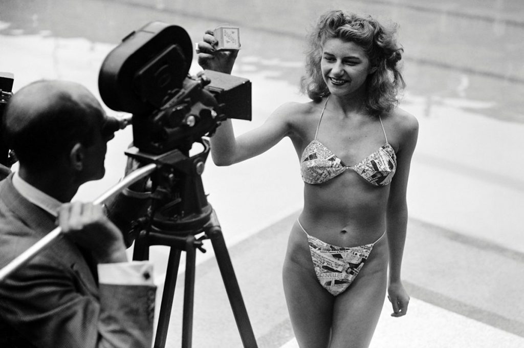 Micheline Bernardini is part of the bikini history. Photo by Getty Images.