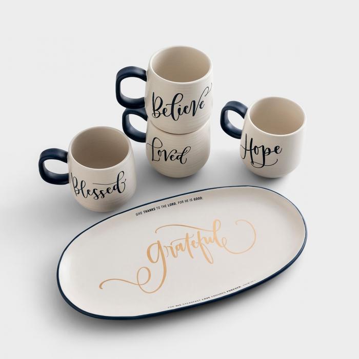 DaySpring Artisan Ceramic Mugs & Platter